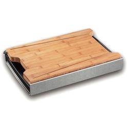 Profi Kochmesser Schneidebrett Schneidbox mit Schneidebrett in Bambus Profi Kochmesser, Schneidbox mit Bambusbrett