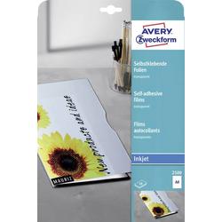 Avery-Zweckform 2500 Selbstklebefolie DIN A4 Tintenstrahldrucker Transparent 10St.