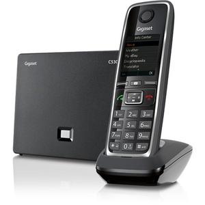 Gigaset C530 IP, Schwarz, Kabelloses Mobilteil, Bernstein, Digital, Tisch/Wand, 50 m