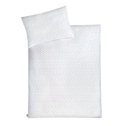 Julius Zoellner Jersey Bettwäsche in weiß mit Muster Herz mint, 80 x 80 cm