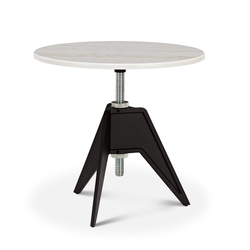 Screw Side Table - Marmor weiß