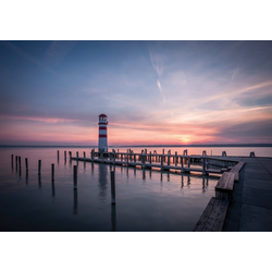 Consalnet Fototapete Sonnenuntergang Meer, glatt, Motiv 2,54 m x 1,84 m