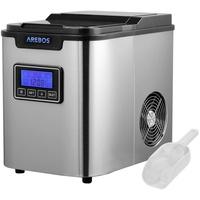 Arebos Eiswürfelmaschine 2,2L Edehlstahl mit LCD-Display