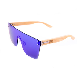 Sonnenbrille SNOWBITCH - metal hinge bamboo temple (MULTI)