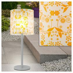 etc-shop LED Außen-Tischleuchte, Elegante Tisch Lampe Blumen Muster Beistell Leuchte Beleuchtung
