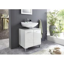 BMG Möbel Waschbeckenunterschrank Marbella Höhenverstellbarer Einlegeboden