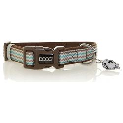 DOOG Halsband Benji braun/blau zigzag, Größe: L