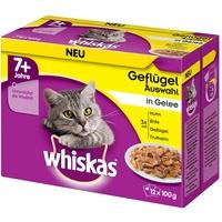 Whiskas 7+ Geflügelauswahl in Gelee 4 x 12 x 100 g