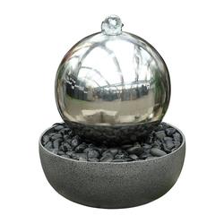Dehner Gartenbrunnen Globe mit LED-Beleuchtung, Ø 45 cm, Höhe 52 cm