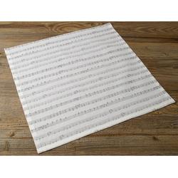 Stoffserviette, Textil Stoff Serviette Notenzeilen 45x45 cm, matches21 HOME & HOBBY