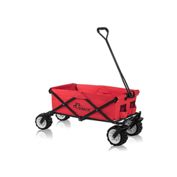 SAMAX Bollerwagen Faltbarer Bollerwagen Offroad - Rot