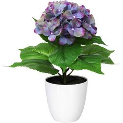 Künstliche Zimmerpflanze Leana Hortensie, my home, Höhe 40 cm lila