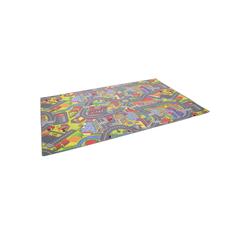 Kinderteppich Kinder Spiel Teppich Straßenteppich 3D Big City, Snapstyle, Höhe 4 mm 100 cm x 100 cm x 4 mm