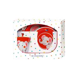 Spiegelburg Kindergeschirr-Set Melamin-Geschenkset Elefant - Freche Rasselbande