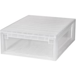 KREHER Aufbewahrungsbox 22 Liter, mit Schublade weiß