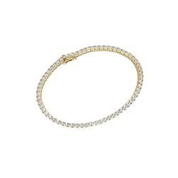 Luigi Merano Tennisarmband Tennisarmband mit Zirkonia, Gold 375