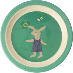 rice Teller Melamine-Teller Häschen, grün grün