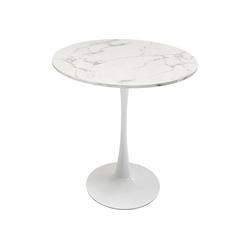 KARE Esstisch Tisch Schickeria Marmoroptik Weiss 80cm weiß