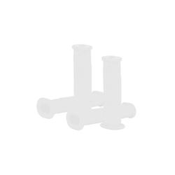 BigDean Schubkarre 4x Schubkarrengriffe Oval 35mm Kunststoff Karrengriff Schiebkarre Sackkarre