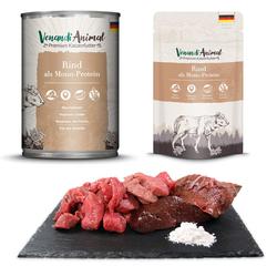 Venandi Animal Katzenfutter mit Rind als Monoprotein - 400 g