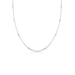 Elli Kette mit Anhänger Solitär Basic Kristalle 925 Silber, Kristall Kette rosa