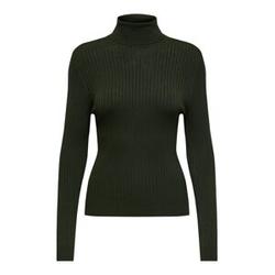 ONLY Rib Knitted Pullover Damen Grün Female XS