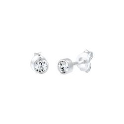 ELLI Damen Ohrringe 'Solitär' silber, Größe One Size, 4387926