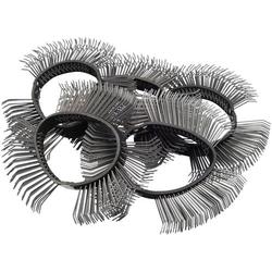 Bürstenband 11 mm breit, grob, gebogene