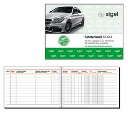 SIGEL Formularbuch FA614 Fahrtenbuch, Pkw mit Kraftstoffverbrauch