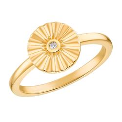 s.Oliver s.Oliver Ring für Damen, 925 Sterling Silber vergoldet | Sunray