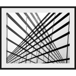 Places of Style Bild Stahlkonstrukt, mit Rahmen 50 cm x 40 cm x 2,4 cm