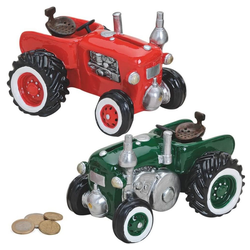 matches21 HOME & HOBBY Spardose Spardose Traktor / Trecker / Schlepper Sparbüchse