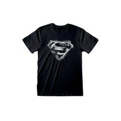 Superman T-Shirt SUPERMAN T-SHIRT DISTRESSED LOGO GRÖSSE S,M,L,XL+XXL RAR NEU L