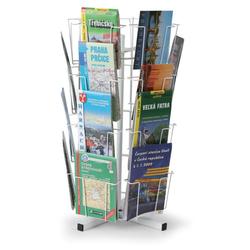Drehbarer tischständer für postkarten, karten, 24 taschen