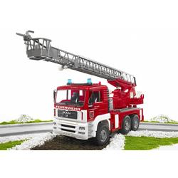 Bruder® Spielzeug-Feuerwehr MAN Feuerwehrauto mit Drehleiter, Wasserpumpe und Light and Sound Module (trucks), Made in Germany