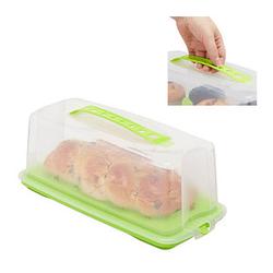 relaxdays Kuchenbehälter für Kastenform 37,0 x 16,0 cm