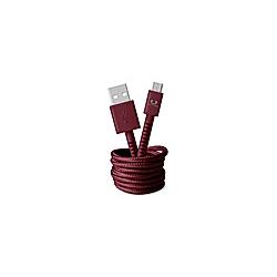 FRESH 'N REBEL Fabriq USB auf Micro-USB Kabel 1 5m  Ruby Red