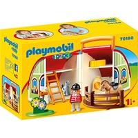 Playmobil 1.2.3 Mein Mitnehm-Reiterhof