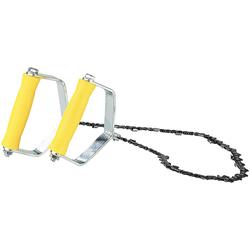 Hand-Kettensäge, Metallgriffe, Sägekette 70cm, 18 extrem scharfe Zähne