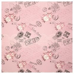 STAR Geschenkpapier, Geschenkpapier Rosen Postkarten 70cm x 2m, Rolle