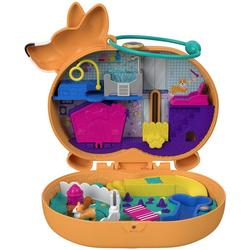 Mattel® Spielwelt Polly Pocket Corgi-Hundehotel Schatulle