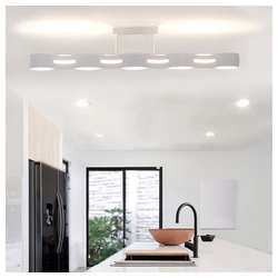 Lutec Deckenleuchte LED Wave 3-Stufen Dimmer Weiß