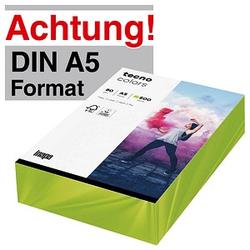 tecno Kopierpapier colors leuchtend grün DIN A5 80 g/qm 500 Blatt