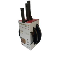 Mischler Cook Pfannen-Set Pfannen-Set, Aluminium (3-tlg., 1 Bratpfanne ø 20 cm)