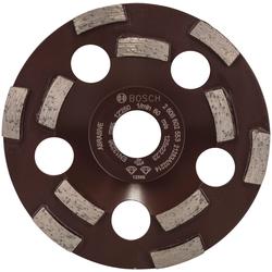 Bosch Powertools Schleifteller Expert for Abrasive, Ø 125 cm, Diamanttopfscheibe: 125 x 22,23 x 4,5 mm grau