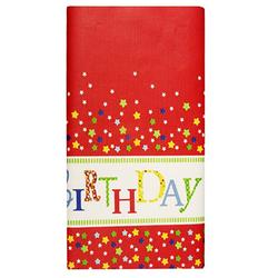 Tischdecke Tischtuch aus Papier 120 cm x 180 cm Geburtstag `Happy Birthday` lackiert