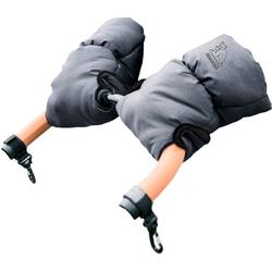 Heitmann Felle Kinderwagen-Handwärmer Eisbärchen, Handmuff für den Kinderwagen, praktische Druckknöpfe zur Befestigung grau