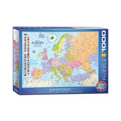 empireposter Puzzle Landkarte von Europa - 1000 Teile Puzzle Format 68x48 cm., 1000 Puzzleteile