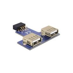 Delock USB Pinheader USB-Adapter 9 pin 2.0 header W bis W (41824)