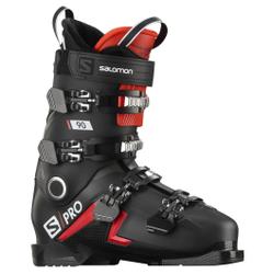 Salomon - S/Pro 90 Black/Red/B - Herren Skischuhe - Größe: 28/28,5